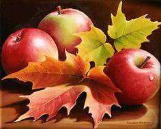 Three Apples, Oil painting