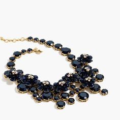 J.Crew+-+Midnight+floral+necklace