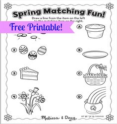 Spring is (almost!) here! With so many fun holidays happening over the next few weeks, we thought you'd enjoy this free Spring Matching printable!