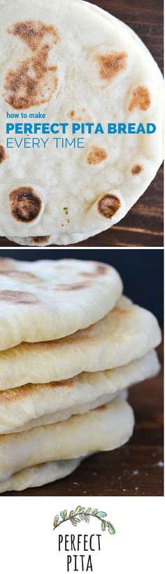 Easy step by step instructions for making perfect pita bread everytime. Easy step by step instructions for making perfect pita bread everytime. Bread And Pastries, Naan, Love Food, Food To Make, Food And Drink, Cooking Recipes, Yummy Food, Favorite Recipes, Gastronomia