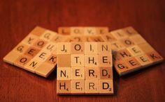 """Coasters With Wood Scrabble Tiles - """"Nerd Herd"""" Scrabble Coasters, Scrabble Crafts, Scrabble Letters, Scrabble Tiles, Scrabble Ornaments, Nerd Crafts, Fun Crafts, Scrabble Kunst, Craft Gifts"""