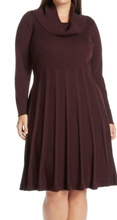 This dress is super warm, but the flouncy skirt makes it chic and flirty too! | Calvin Klein sweater dress