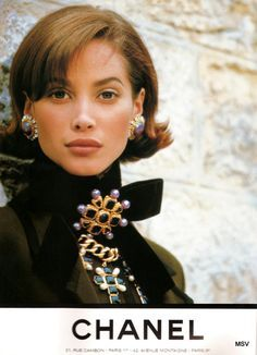 Christy Turlington for Chanel, by Karl Lagerfeld, 1991