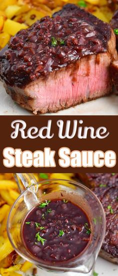 Red wine steak sauce is a rich and easy sauce for your favorite steaks. This rich sauce is made with bold ingredients like garlic, cognac, red wine, beef stock, and more! Pair it with filet mignon, ribeye steak, or any other steak you love.
