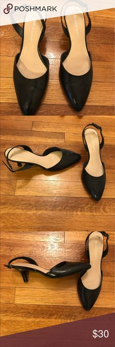 Franco Sarto kitten heels Black, one inch patent leather heels. Bundle and make me an offer! All items are negotiable 😊 Franco Sarto Shoes Heels