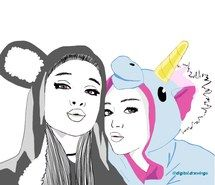 Inspiring image ariana grande, beauty, best friends, doodle, drawing, grunge…