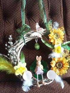 Velikonoční dekorace na dveře má práce