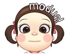 LINE Official Stickers - Neneng Gesrek: Makin Gesrek Example with GIF Animation Cartoon Gifs, Cute Cartoon Wallpapers, Cartoon Art, Animated Movie Posters, Animated Gif, Funny Face Drawings, Line Sticker, Cute Gif, Disney Cartoons