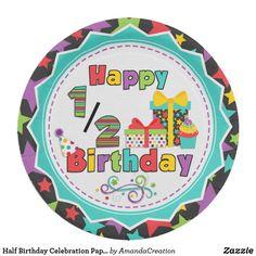 Birthday Plate, Half Birthday, Birthday Fun, Birthday Celebration, Birthday Ideas, Birthday Messages, Crafty Craft, Childrens Party, Unisex