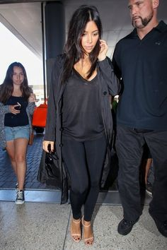Kim Kardashian Photos - The Kardashians Spotted at LAX - Zimbio