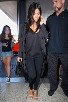 Kim Kardashian Photos - The Kardashians Spotted at LAX - Zimbio