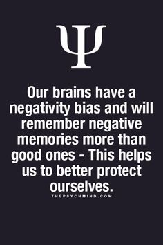 There you have it...For all the guys that ask why girls remember all the bad stuff and not the good...it's not is, it's our brain!