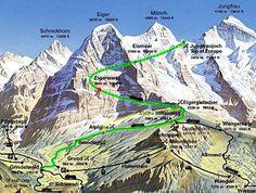 Eiger-Jungfrau train trip inside the mountain, unforgettable! / Bernese Oberland, Switzerland