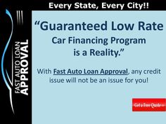 easy-car-financing-program-guaranteed-low-rates-and-flexible-terms by Fast Auto Loan Approval via Slideshare