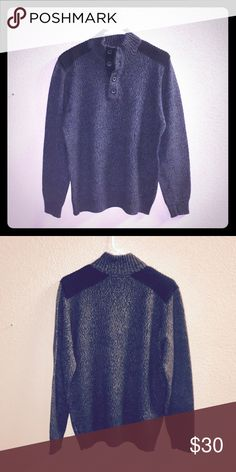 """Apt. 9 Men's Pullover Sweater WORN ONCE 👦🏻 Flawless Condition, Like New! Dimensions: 22"""" Across the front of chest, 28"""" from the top of shoulder to the bottom of the sweater. Buttons down the chest. 60% Cotton, 40% Acrylic. No stains, fading, tears, or fuzzies! Worn Once. From Kohl's. Apt. 9 Sweaters"""