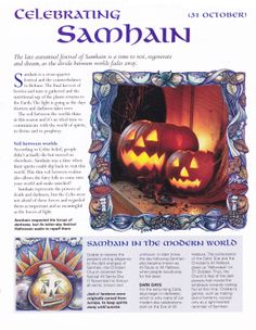 Celebrating Samhain: start at the end. Door passing from light to dark. Final harvest.