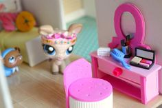 LPS DIY How to make an easy LPS vanity and chair