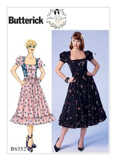 Gertie's New Blog for Better Sewing: New Summer Butterick: Sabrina/Marilyn Mashup, Dirndl Chic, and Tiki Separates