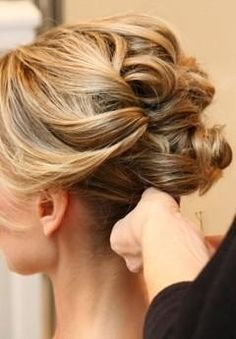 Updo would look good with veil @Maxine Lim Lam