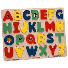 "Melissa & Doug Large Wooden See Inside ABC Puzzle - 26-Piece - Melissa & Doug - Toys ""R"" Us   $9.99  Dom"