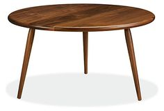 Designed to responsibly utilize all parts of the walnut tree it's crafted from, our Wilder cocktail table highlights a beautiful variety of tones and unique grain patterns you could expect to see in the entire tree. From light honey to deep brown tones, Wilder is handmade to add natural warmth to your space. Wilder's petite design is great for nesting and is complemented by soft tabletop edges and delicately turned legs, making it easy to tuck anywhere in your home for beautiful…