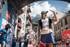 Rory Bosio, 1st Female and 7th overall UTMB 2013. North Face Athlete from The USA. Photo: Salomon Running Au.