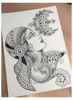 Unique Drawings, Art Drawings Sketches Simple, Pencil Art Drawings, Mandala Art Lesson, Mandala Artwork, Easy Mandala Drawing, Doodle Art Drawing, Zentangle Drawings, Gypsy Drawing