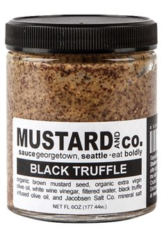We need a hot dog or a pretzel, ASAP. Mustard and Co.'s Black Truffle Mustard is a must-have.