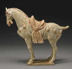 A painted pottery figure of a horse, Tang dynasty2 - Photo de China - Tang dynasty - Alain.R.Truong