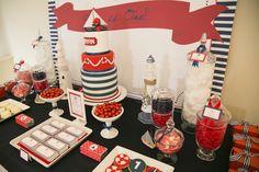Classic Nautical Birthday Party via Kara's Party Ideas KarasPartyIdeas.com The Place for All Things Party! #nautical #nauticalparty #nauitcalbirthdayparty (5)