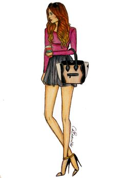 'Chic on the Go' Fashion Illustration by Daria Beuttenmüller