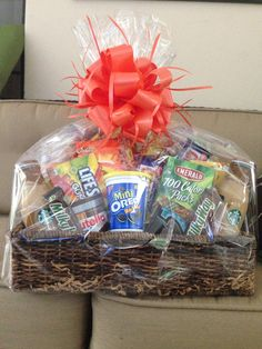 Made for Boyfriend! All his Favorite Munchies! Gift Basket!