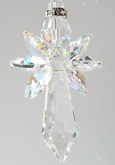 Swarovski Crystal Angel Ornament Sun Catcher ~ Native American Made