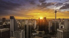 https://flic.kr/p/AwqT4g | Beautiful sunset during a pre-monsoon season at Kuala Lumpur city | The image is one of the frame from my time lapse taken that beautiful pre-monsoon sunset earlier this month.