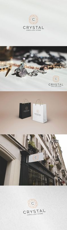 Crystal - Jewellery Store Logo on Behance Bead Jewellery, Crystal Jewelry, Design Packaging, Branding Design, Jewelry Branding, Mj, Jewelry Stores, Behance, Logo