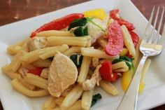 Garlic Lemon Chicken and Pasta | TheMarathonMom.com