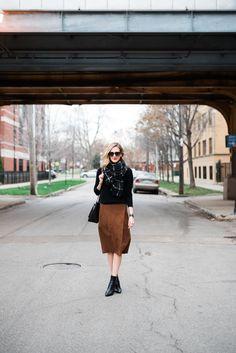 Suede Wrap Skirt (See Jane Wear) See Jane waysify