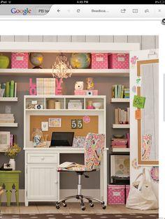Pb teen desk and backboard!