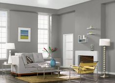 This is the project I created on Behr.com. I used these colors: GRANT GRAY(HDC-AC-19),