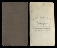 1870s Pair OF CDV Portraits OF Young Gentleman BY E I Stearns Honesdale Penna   eBay