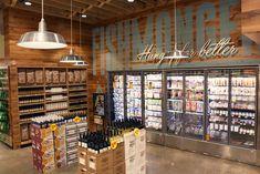 Retail interior decor design, build, install, and and millwork services. Supermarket Design, Food Design, Design Ideas, Retail Interior, Store Design, Grocery Store, Whole Food Recipes, Liquor Cabinet, Dallas