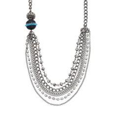 Simply Vera Vera Wang Bead Asymmetrical Swag Necklace