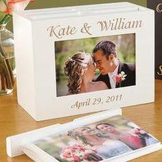 Personalized 3 Holder Photo Box - Wedding Gifts