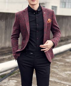 Mens Clothing | Blazer | Men's Cotton & Wool Casual Blazer | Mens Suit – Zorket