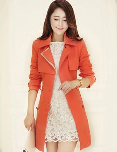 0f65ee45df4c3 USD  27.20 Fashion Slim Trench Coat with Double-Breasted-winter coat