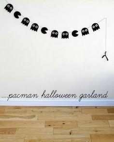Guirlande pacman et fantômes halloween