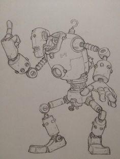Art by 窪之内英策 Eisaku Kubonouchi* Arte Robot, Robot Art, Cool Drawings, Drawing Sketches, Robot Sketch, Robots Drawing, Robot Concept Art, Robot Design, Character Illustration