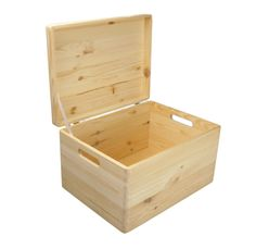 Plain Large Pine Wooden Storage Box / Trunk / Chest / With Lid 40x30x24 Cm  In