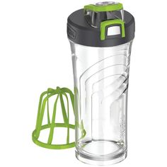 Thermos Eastman Tritan Shaker Bottle With Integrated Mixer, 24oz - Integrated & removable stationary mixer for optimal blending Made with BPA-free, impact-resisting, dishwasher-durable Eastman Tritan(TM) copolyester Capacity markings integrated into bottle to assist with measuring ingredients & monitoring intake Hygienic flip-up lid with 1-hand push-button operation Integrated flip-up carrying loop
