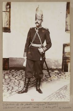 vintage everyday: Russian Army Fashions of the 1890s- wouldn't want to be wearing that hat out in a lightening storm!